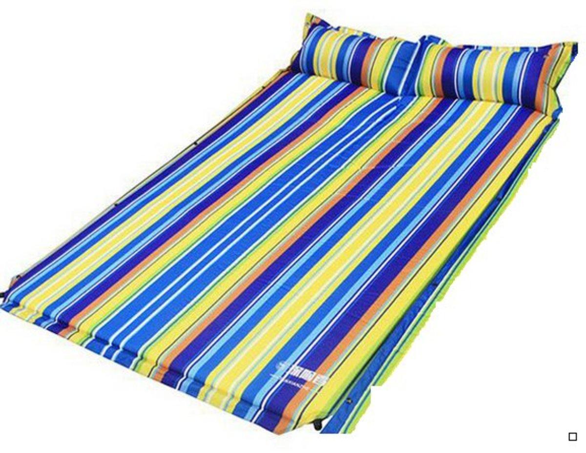 戶外露營可拼接充氣墊(192*130*3cm )彩條紋-雙人平板款