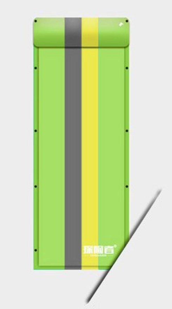 戶外露營可拼接充氣墊(192*65*3cm) 綠條紋-單人平板款