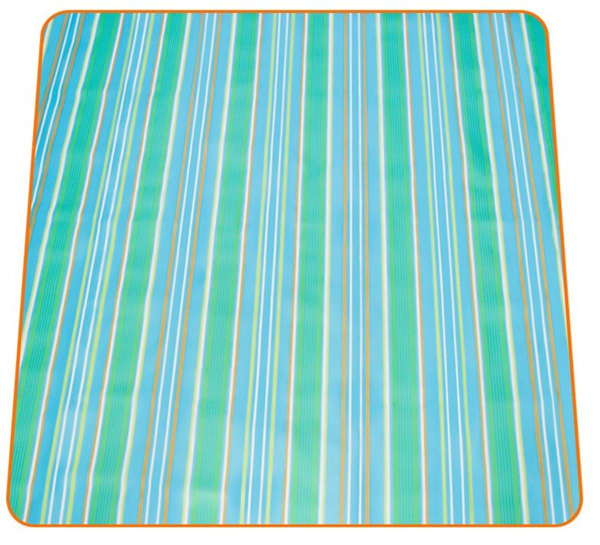 野餐牛津墊野餐布便攜防潮(200*180cm)藍白條