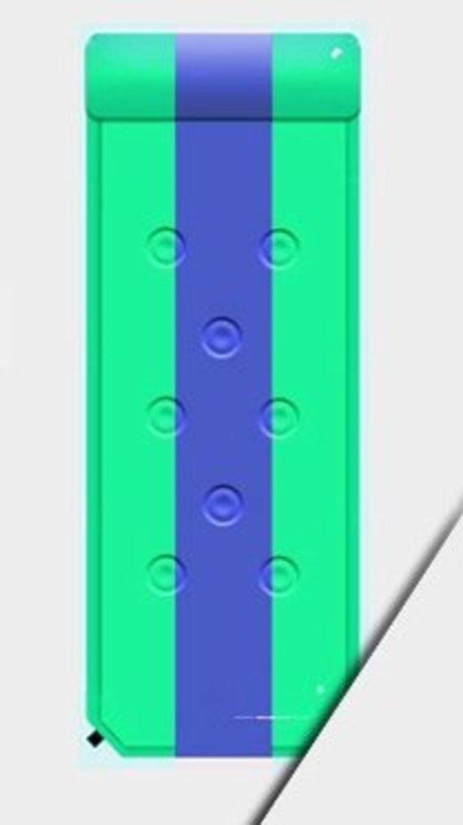 戶外露營可拼接充氣墊(183*58*2.5cm )綠條紋-單人九點款