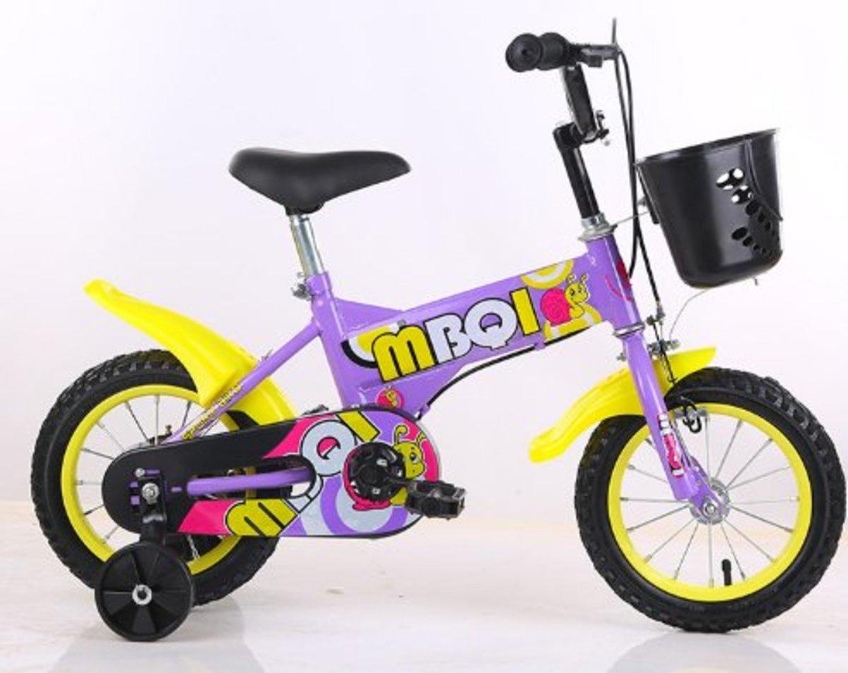 兒童單車腳踏車(紫色 14寸)適合3-5歲