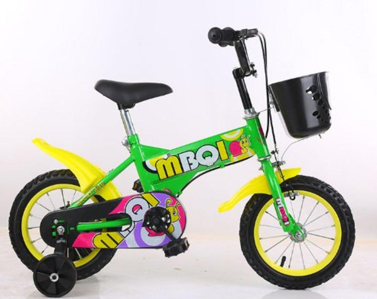 兒童單車腳踏車(綠色 16寸)適合5-7歲