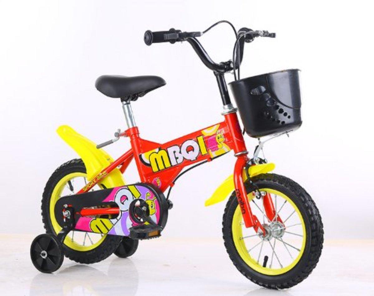 兒童單車腳踏車(紅色 16寸)適合5-7歲
