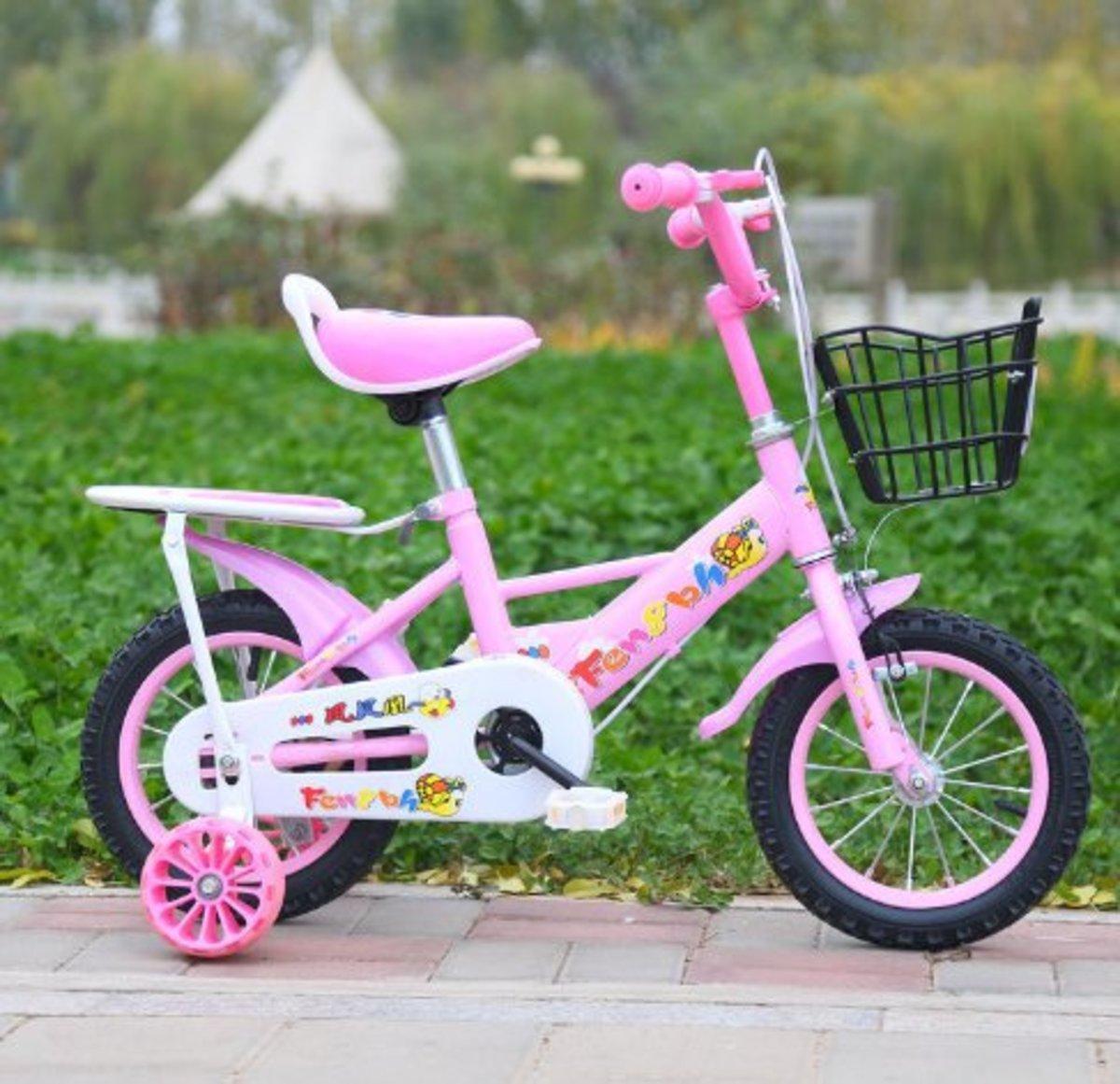 兒童單車腳踏自行車(粉色14寸)適合3-5歲