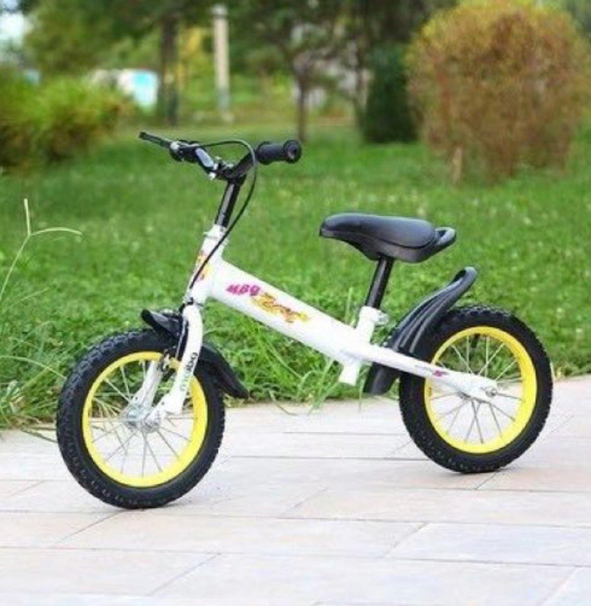 兒童平衡滑步單車(白色 14寸)適合3-5歲