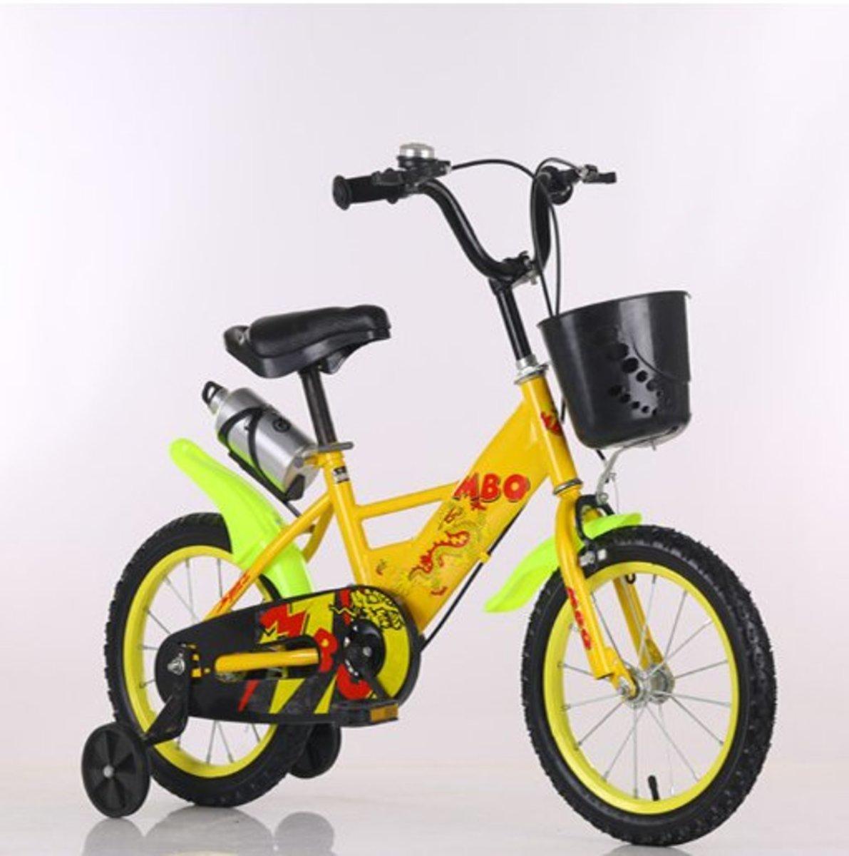 兒童單車輔助轆(黃色 18寸)適合6-8歲