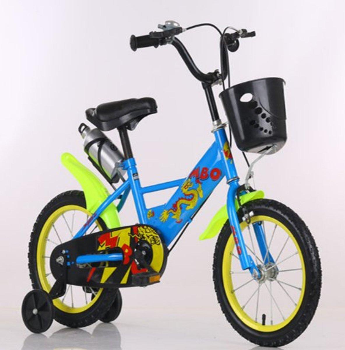 兒童單車輔助轆(藍色 16寸)適合4-6歲