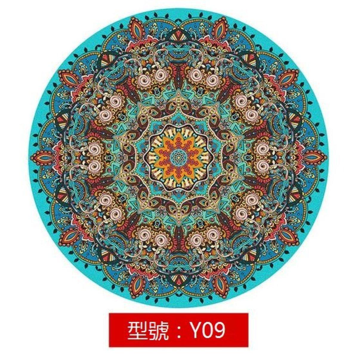 波希米亞風圓形地氈地毯Y09 直徑200cm