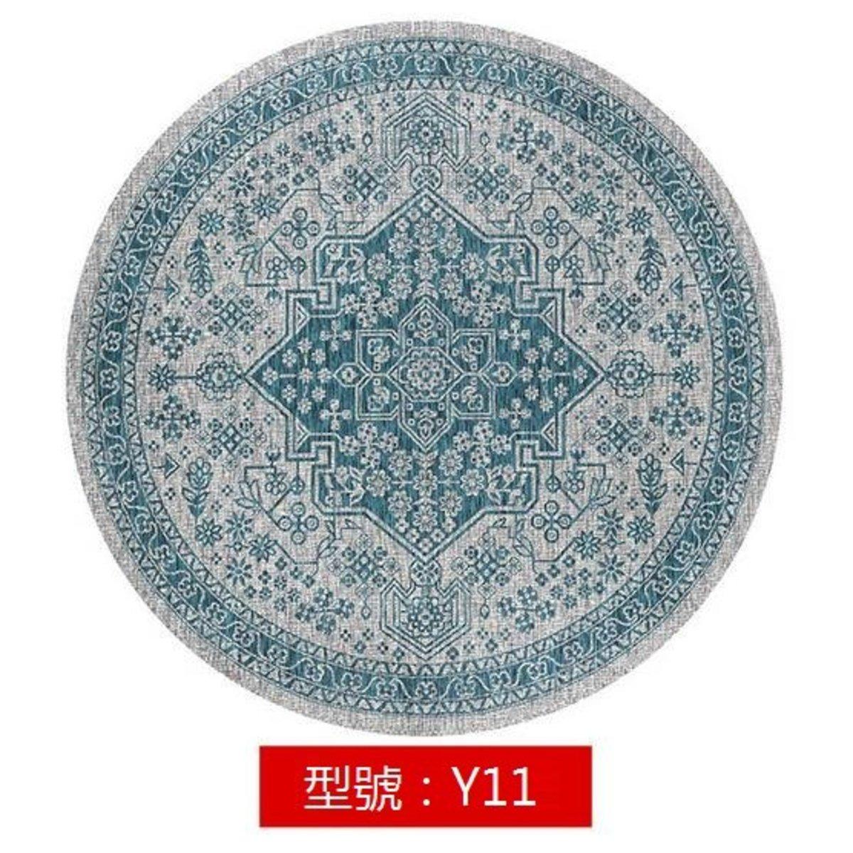 波希米亞風圓形地氈地毯Y11 直徑160cm