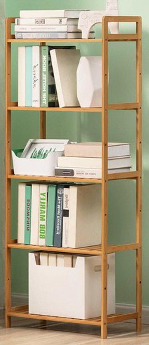 兒童儲物收納架學生書櫃(五層-35cm)