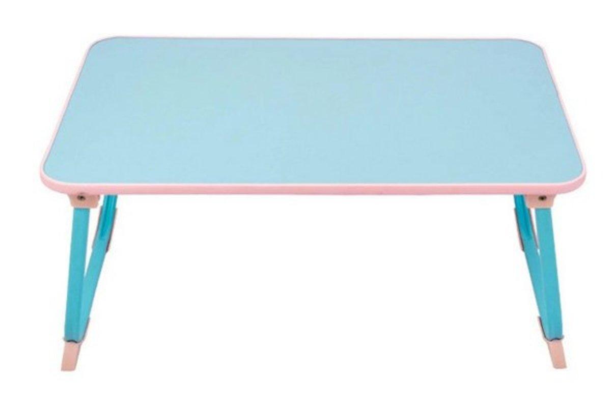 倒U型折疊床上電腦桌懶人桌(60*39cm)淡藍