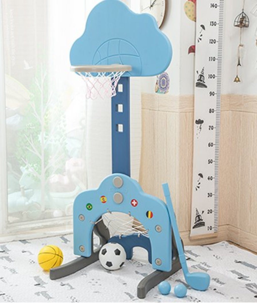 可升降室內家用籃球架(149*54*50)皇家藍