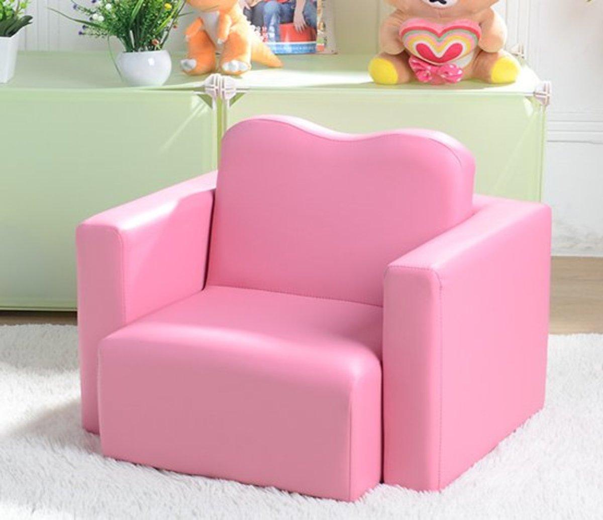 組合多功能椅沙發(深粉心形功能沙發)