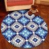 水晶絨圓形地氈地毯簡約北歐款電腦轉椅(紫黃皮球)80cm