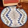 水晶絨圓形地氈地毯簡約北歐款電腦轉椅(灰黑鹿角)100cm