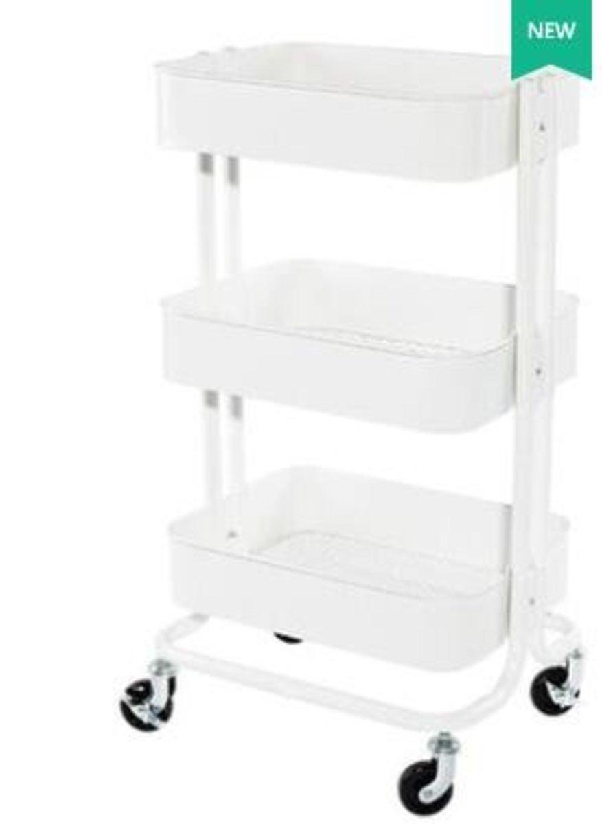 拉斯克廚房小推車餐車置物架收納架(出口版白色)