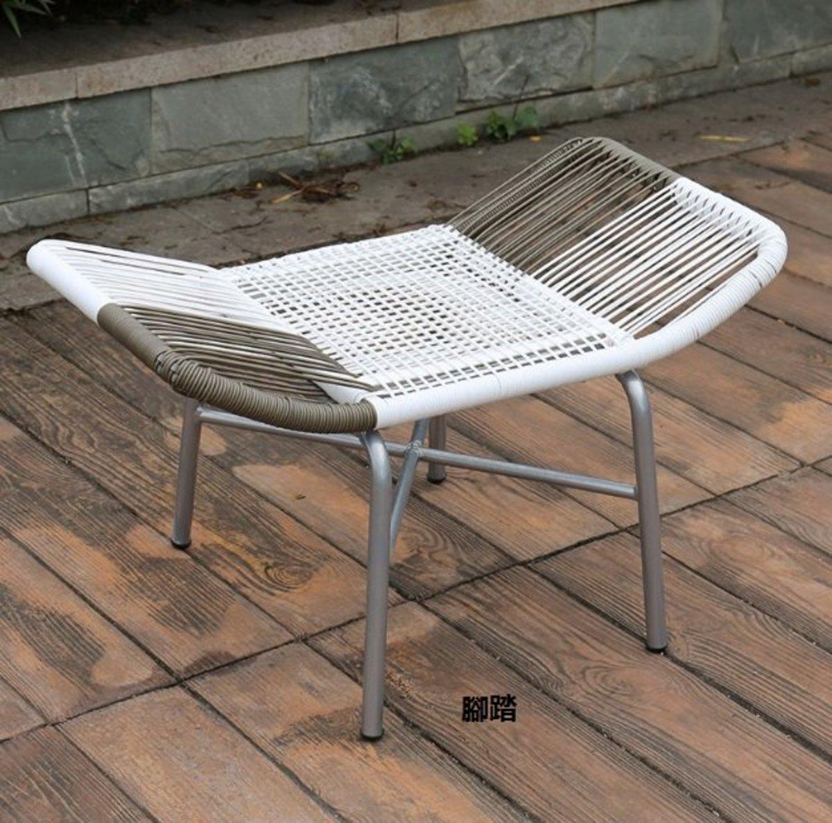 室外陽台北歐藤椅(腳踏)