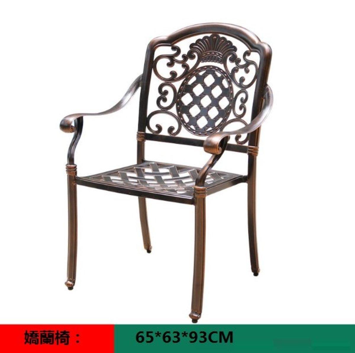 室外咖啡廳歐式餐桌椅(嬌蘭椅:65*63*93CM)