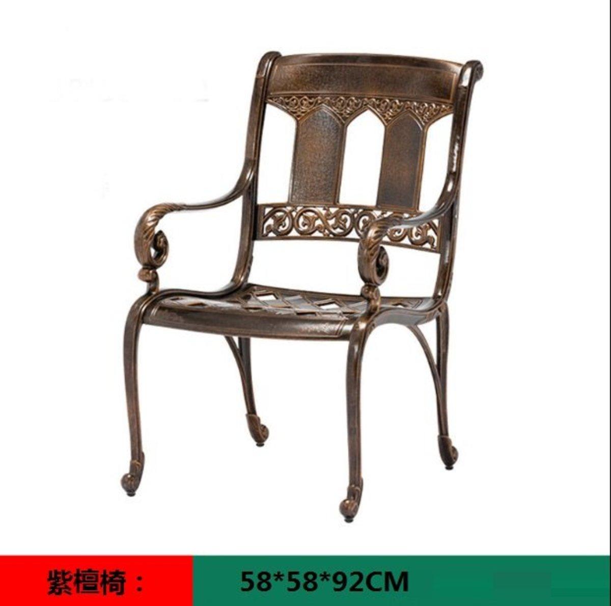 室外咖啡廳歐式餐桌椅(紫檀椅:58*58*92CM)