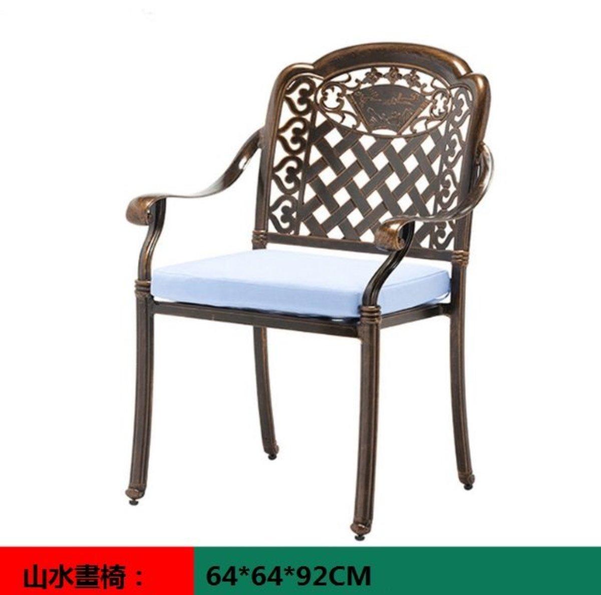 室外咖啡廳歐式餐桌椅(山水畫椅:64*64*92CM)
