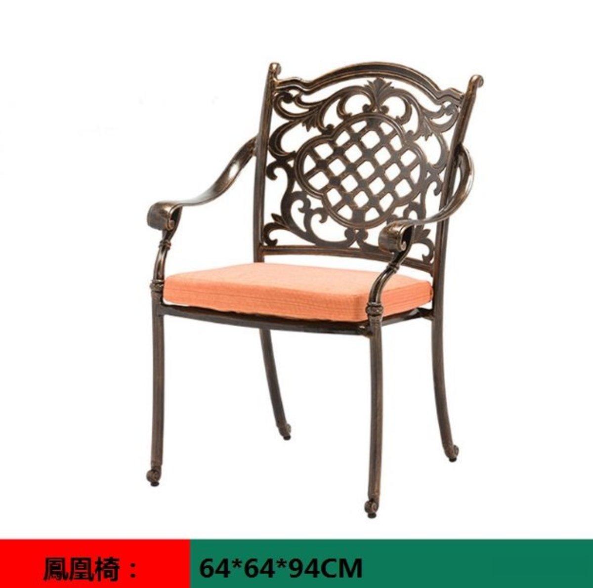 室外咖啡廳歐式餐桌椅(鳳凰椅:64*64*94CM)
