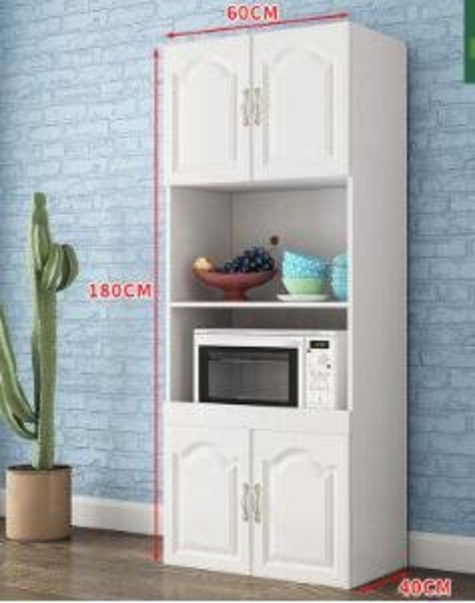 歐式現代簡約儲物櫃:A款白色 高端歐式4門