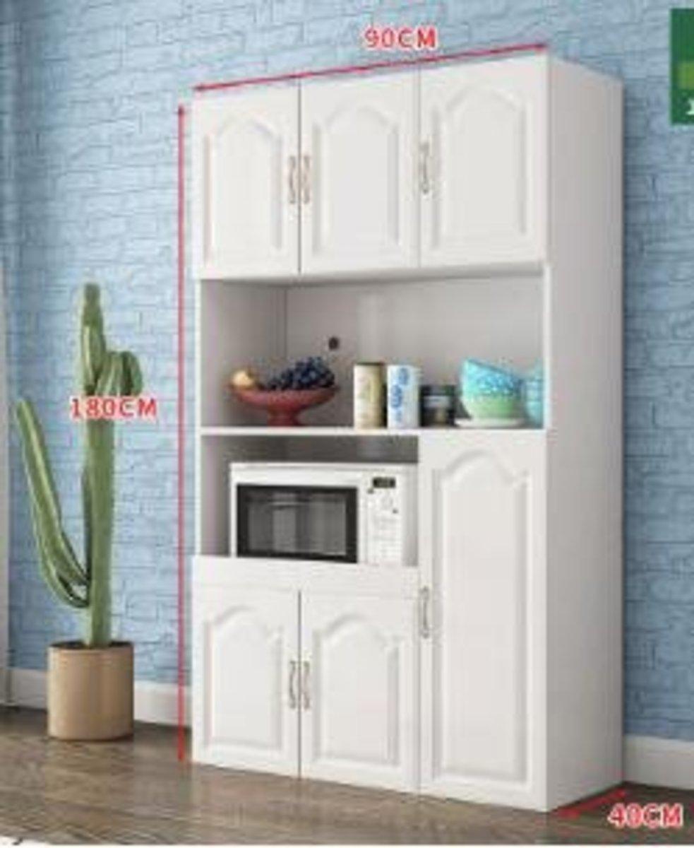歐式現代簡約儲物櫃:C款白門 高端歐式6門
