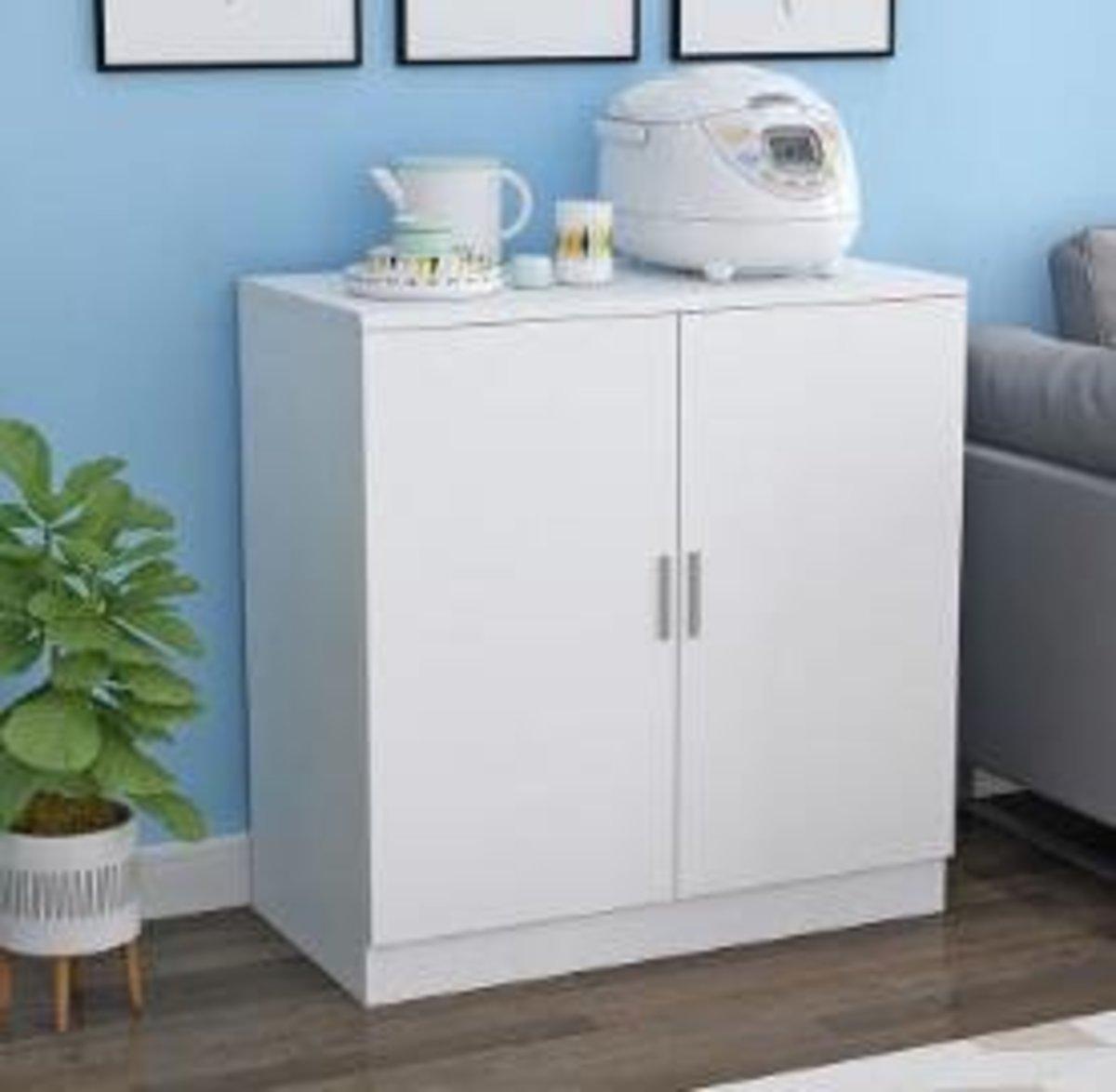 現代簡約收納儲物櫃:暖白色80高80寬40深