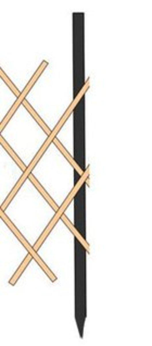 竹籬笆柵欄圍欄花園裝飾(固定竹竿高度90)