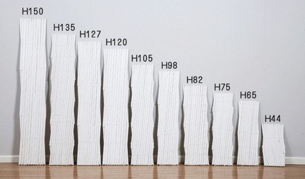 伸縮木拉網防腐木柵欄(白色H44cm)
