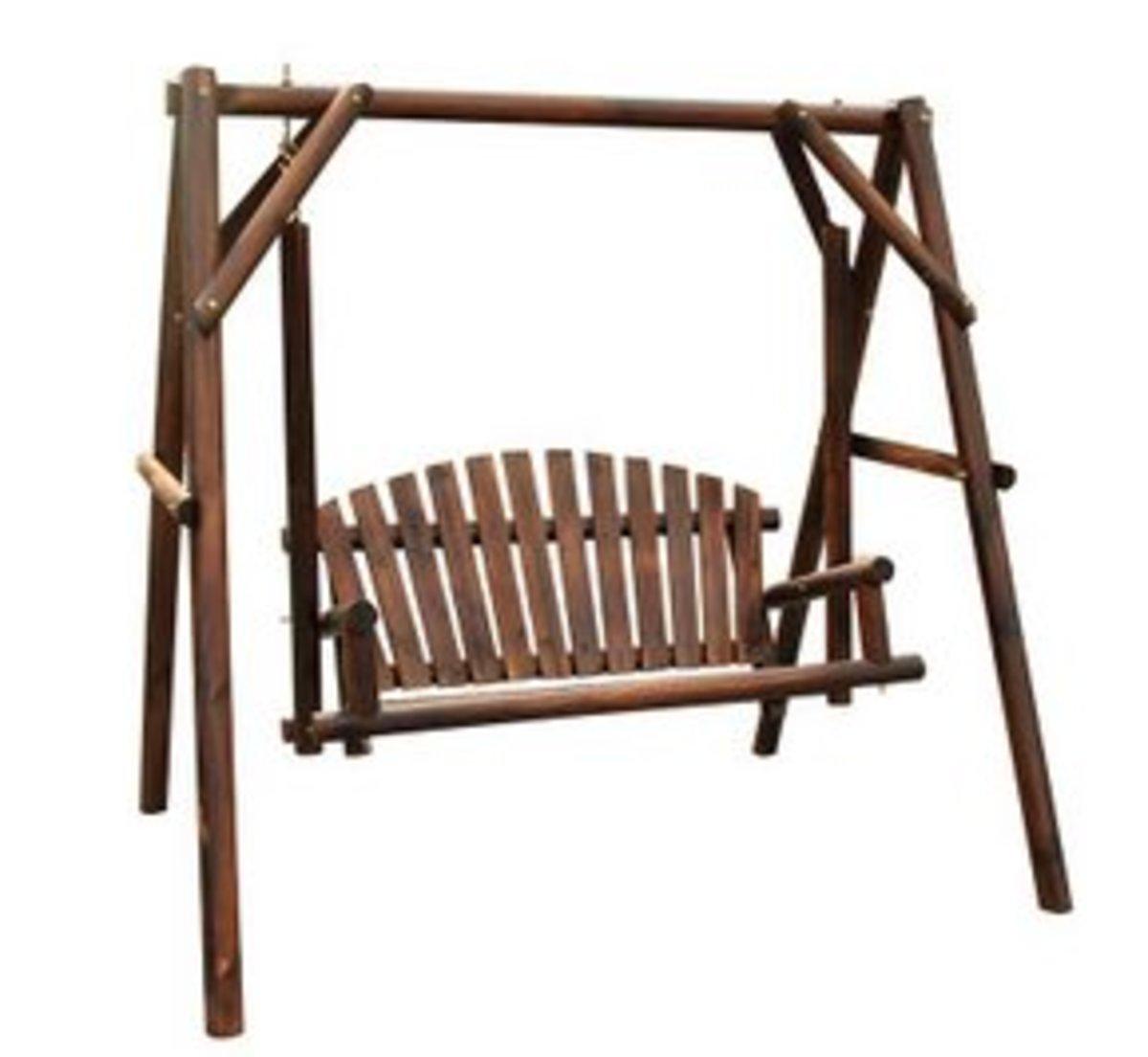 實木鞦韆木搖椅木吊椅防腐