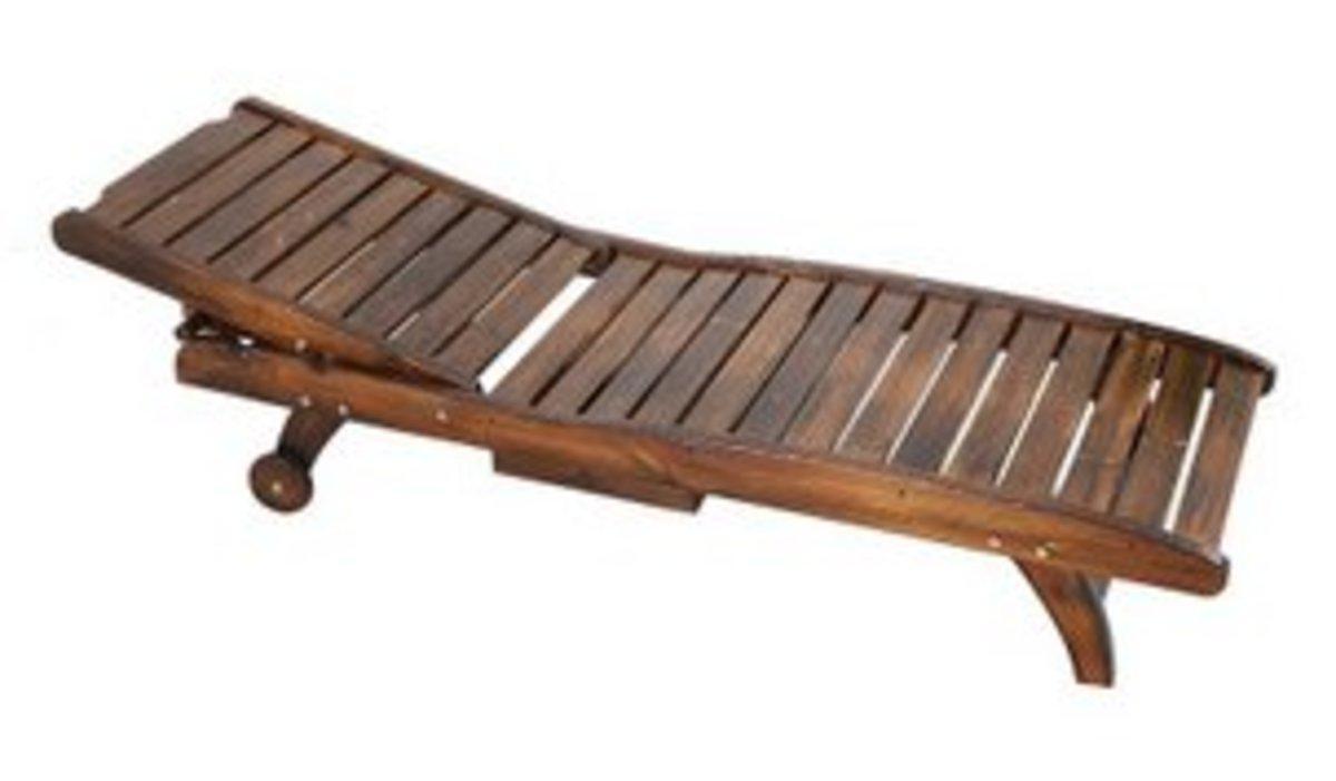實木床碳化防腐躺椅折疊椅(180*60*100)