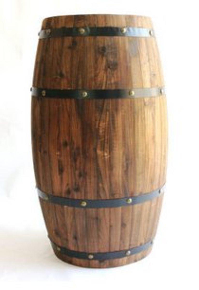 碳化防腐木花盆鼓桶(高60cm)