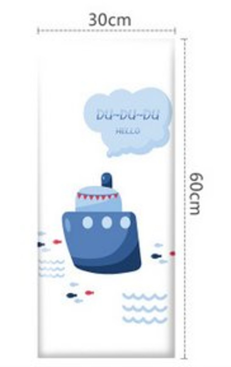 兒童學步防撞軟墊牆貼床圍(30x60cm)(海洋樂園-3)#894_00004A