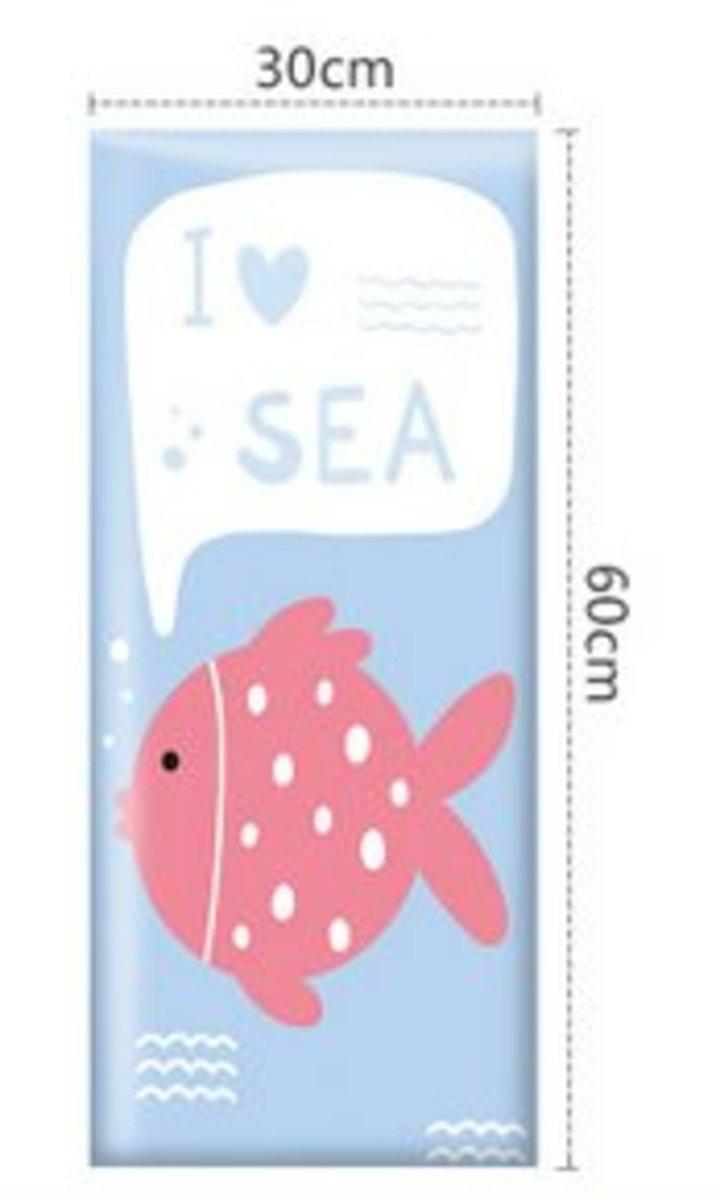 兒童學步防撞軟墊牆貼床圍(30x60cm)(海洋樂園-9)#894_00006A