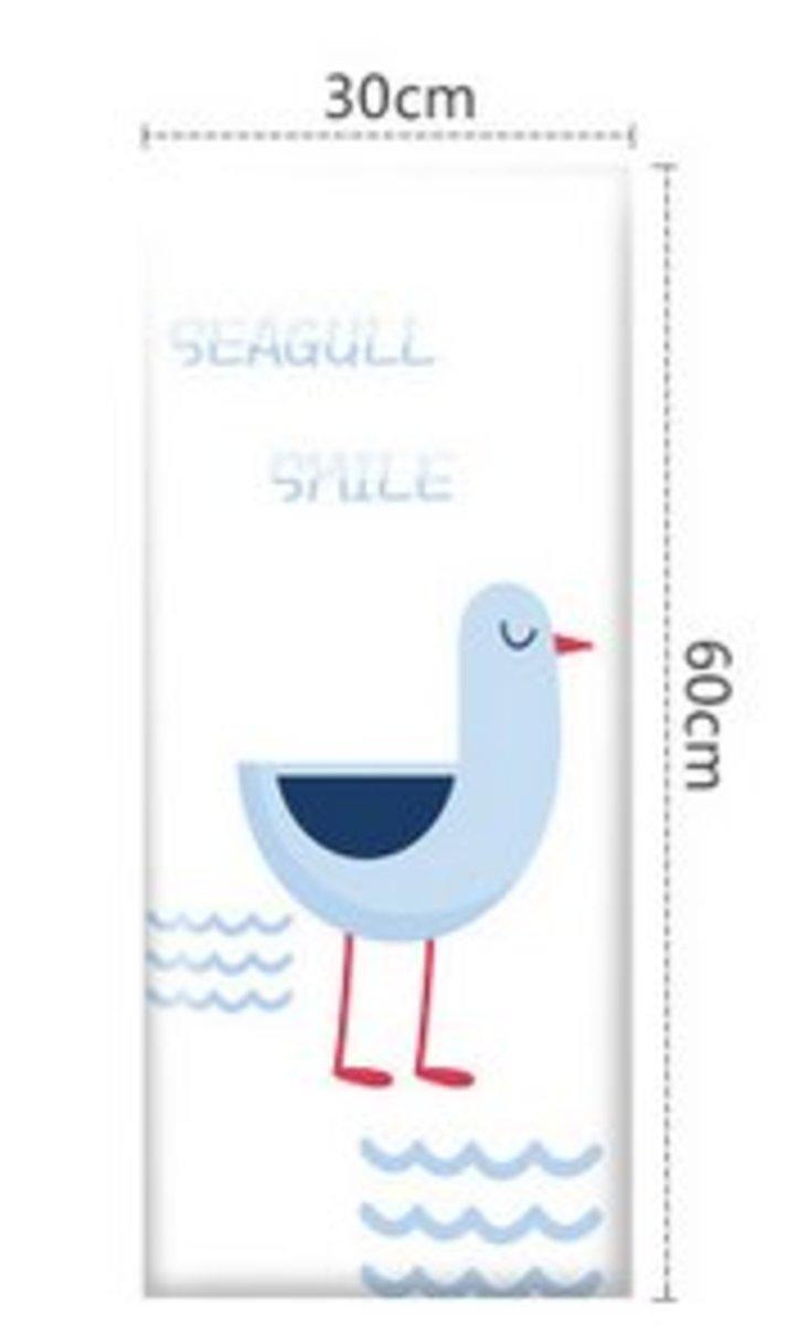 兒童學步防撞軟墊牆貼床圍(30x60cm)(海洋樂園-10)#894_00007A