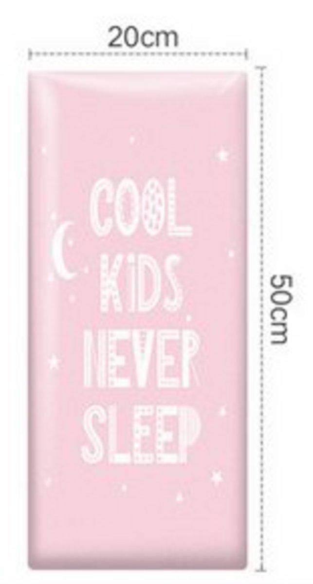 兒童學步防撞軟墊牆貼(20x50cm)(粉色)#894_00020A