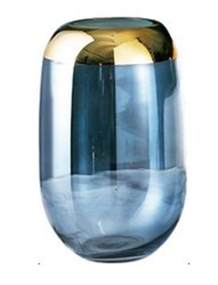 北歐輕奢透明玻璃花瓶(藍色C款)#909_00009A