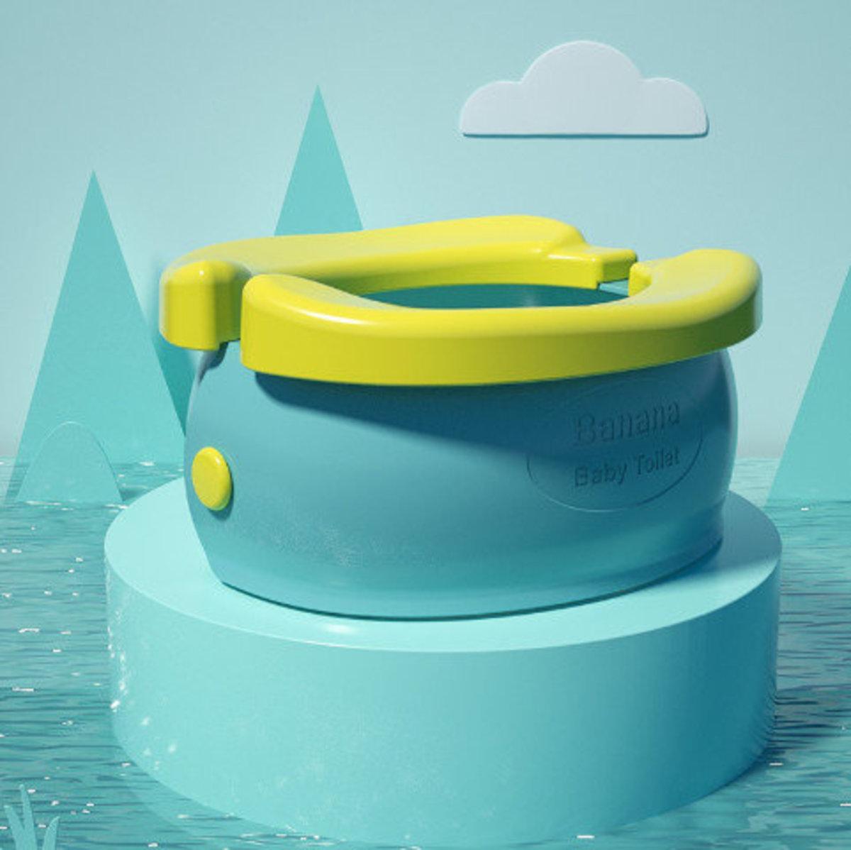 Baby Toilet-可折疊便攜兒童香蕉坐廁(綠色)