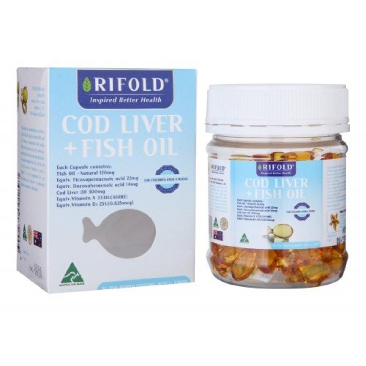 Kids Cod Liver & Fish Oil[Authorized goods]