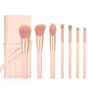 Malena Hauteur 專業美妝掃系列: 淺粉紅色化妝掃 7支套裝加掃套 一套