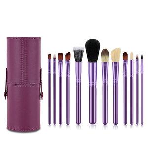 Malena Hauteur 專業法式美妝系列: 閃耀紫色12支化妝掃皮筒套裝 19cm 一套