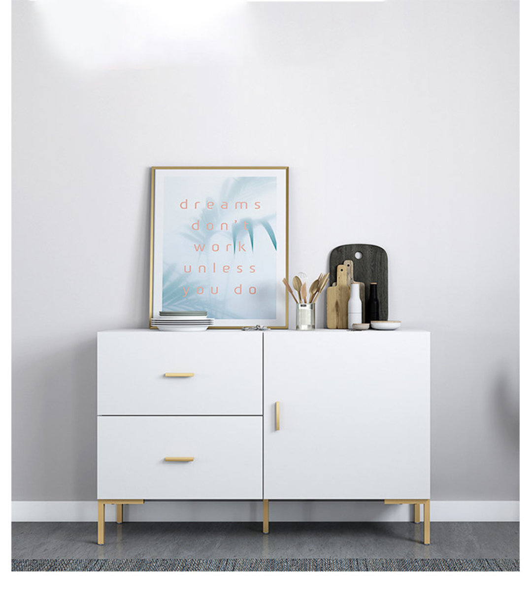 Whitney 47 inch One door with Two Drawer sideboard