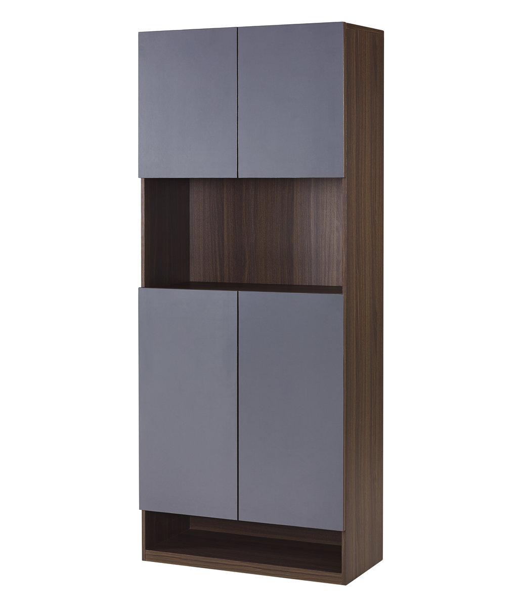 Walnut Plus Iron-Gray 31.5  inch Shoe/Storage Cabinet