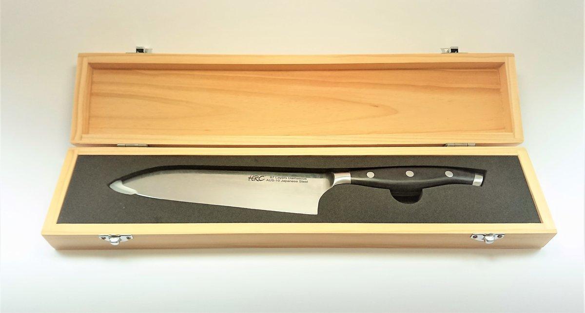 HRC AUS10大馬士革鋼7吋廚刀刀
