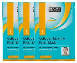 Beauty Formulas 6 x Collagen Essence Facial Mask 骨膠原精華面膜