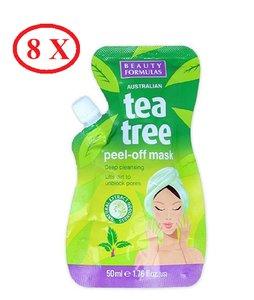 Beauty Formulas 8 X 茶樹去角質面膜 50ml    8 X Tea Tree Peel-Off Mask 50ml 8 X 50ml
