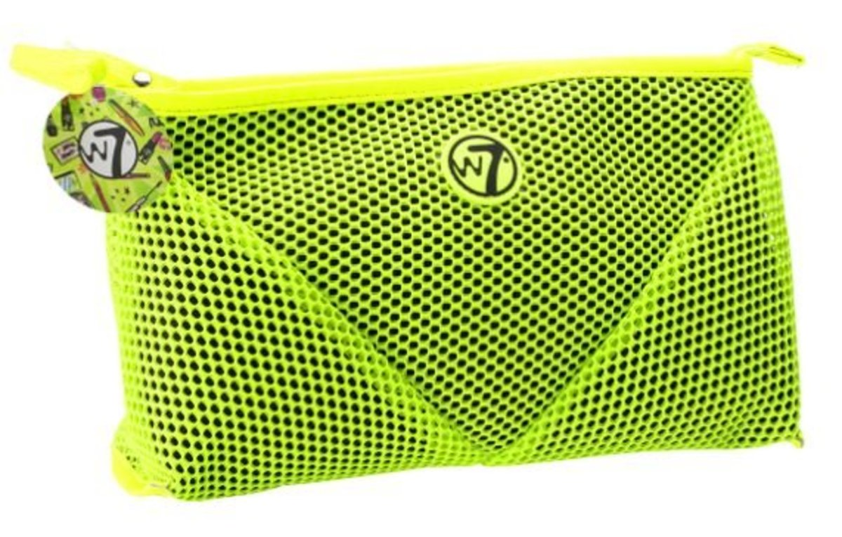 Mesh Large Cosmetics Bag - Neon Green