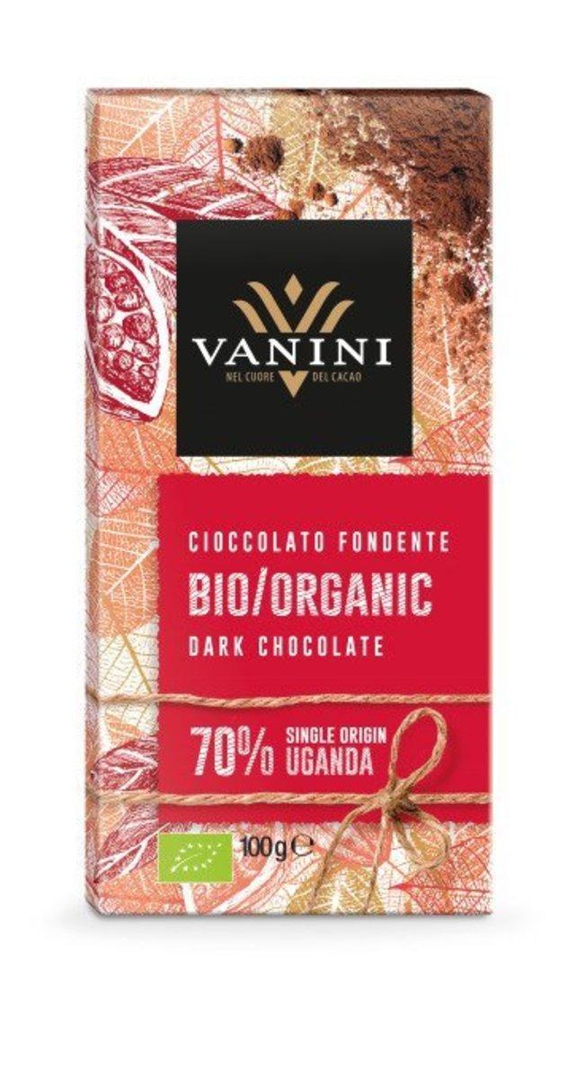 Organic Dark Chocolate Bar, Cocoa 70% Chocolate Bar - Single Cocoa from Uganda   100g