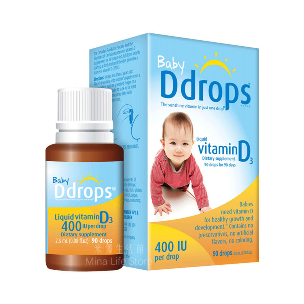 Baby Ddrops Vitamin D3, 90 Drops (2.5ml)